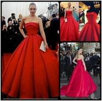 arizona pictures - Elegant Arizona Muse Evening Dresses Red Carpet Celebrity Dresses Satin Sash A Line Train Long Prom Party Strapless Ball Gown Formal