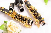 Wholesale composite wood clarinet gold lacquer key clarinet