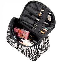 beauty box makeup case - New Fashion Portable Waterproof Women Makeup Bag Make Up Storage Organizer Box Beauty Case Travel Pouch Zebra Hot Selling