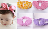 age hair color - South Korean children s hair accessories Cotton girls with rabbit ears with baby hair band baby hair hoop under the age of