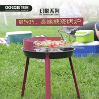 barbecue furniture - Factory direct outdoor barbecue grill mini tripod round outdoor charcoal grill BBQ grill