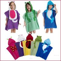 Wholesale Cute Baby Bathrobe Anmial Style Ladybug Kids Bathing Bath Robe Swimming colors L W CM