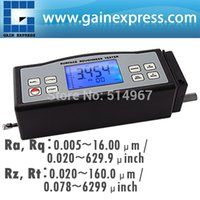 Wholesale 4 Parameters Digital Surface Roughness Tester Ra Rz Rq Rt with Built in Diamond pin probe Metric Imperial Conversion
