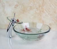 bathroom washbasins - 4010 Newly Art Round Victory Clear Glass Bathroom Washbasin Sinks Glass Sink With Faucet Set