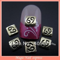 art cancer - MNS146 Cancer nail designs gold nail stickers Metal nail art accessories DIY d nail decorations
