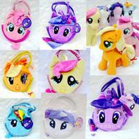 cartoon bags - 6Color My Little Pony Plush Girl Bag Kids Birthady Gift Money Bags Children s Day Cartoon Horse Purse Childs Girls Princess Bags G062
