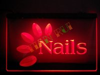 beauty shop decor - LB008 r OPEN Nails Hair Beauty Skin Neon Light Sign hang sign home decor shop crafts led sign jpg