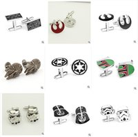 Wholesale Star Wars Cufflinks for Men Fashion Cuff Links Cartoon Jedi Knight Darth Vader Novelty Cufflinks Men Jewelry Cuff Links Accessories m0913