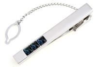 best metal tone - wish_team Brand blue crystal Silver Tone Metal Mens Fashion Tie Bar Clips best gift W379