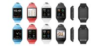 Wholesale retailed Phone watch Smart watches Andriod watch inches screen Bluetooth watch phone GSM Quad Bands S19