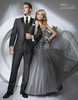 Cheap Wedding Suit Men Dark Grey   Free Shipping Wedding Suit Men ...