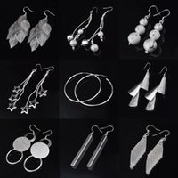 Wholesale 925 Sterling Silver Earrings Fashion Hoop Drop Stud Earring for Women Girl Party Gift Jewelry YDHP