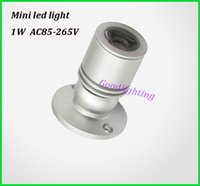 Wholesale 1W W led spot light mini led downlight AC85 V white or warm white cabinet led light RoHS CE