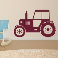 american tractors - ome Decor Wall Sticker Hot Tractor Silhouette Farm Wall Art Sticker Decal Home DIY Decoration Wall Mural Removable Bedroom Decor Stickers