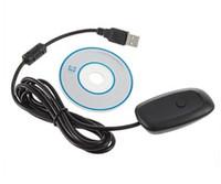al por mayor adaptador receptor de juego para xbox-Por el adaptador sin hilos del receptor del USB del regulador del juego de la PC de la alta calidad de DHL 50pcs para XBOX 360 liberan / el envío de la gota