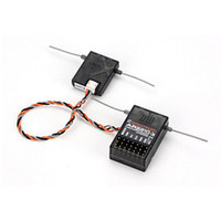 Wholesale Spektrum Free Shipping - AR6210 Receiver 6 Channel with small satellites DSMX Receiver Support JR and Spektrum DSM X and DSM2 syst Free Shipping