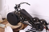 antique harley - Creative Single Face Cast Metal Desk Clock Art Clock Harley Replica Model For Home Decor Collection