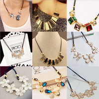 western rhinestone jewelry - Hot Fashion mix order Western costume korean fashion crystal precious stone Necklace for women jewelry