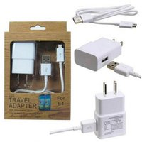 Wholesale 2 in charger kits A mA US EU plug Home Wall Charger MINI USB Adapter MICRO USB DATA charger CABLE for SAMSUNG GALAXY S3 s4 note