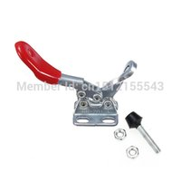 Wholesale 2pcs Metal Horizontal Quick Release Hand Tool Toggle Clamps Kg Lbs Rubber Cushion Holding Capacity New