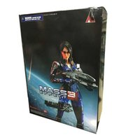 action figure mass effect - Anime Game Play Arts Mass Effect PVC Action Figure Ashley Williams Doll Collectible Model toy ACGN Garage Kit CM Brinquedos