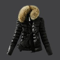 Wholesale Hot sale Women Jacket Famous Brand Duck Down Coat Winter Parka New Arrived Silm clering Clothes Big Fur high Quality