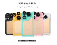 Cheap For Apple iPhone cell phone lens case Best Retail box  back cover with Lens