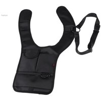 Wholesale High Quality Anti Theft Hide Underarm Shoulder Bag Holster Black Nylon Multifunction Inspector Shoulder Bag