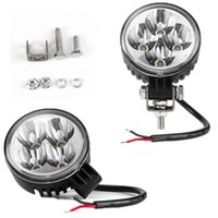 atvs motorcycles - 12W LEDs Spot lights waterproof driving light for offroad SUV tractor ATVs trucks motorcycle work lamp fog light