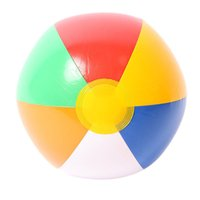 Wholesale Beach Ball The New Colour Striped Rainbow Beach Ball Outdoor Beach Ball Water Sports Balloon cm