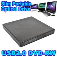 Wholesale USB Portable External Slim DVD CD RW Burner Recorder Optical Drive CD DVD ROM Combo Writer x For Tablets Computer PC