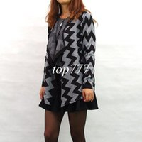 aztec sweaters for women - Jacquard Aztec Print Women Plus Size Cardigan Sweater Coat Suit Collar Knitwear for Autumn and Winter