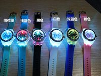 Wholesale Crystals Diamond Stones - LED Light Glow Geneva Watches diamond crystal stone Led Light watch unisex silicone jelly candy flash up Wristwatches Sports Watches