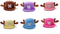 Wholesale Japan anime One Piece colors Tony Tony Chopper Hat Cosplay Cap Visual Cute Japan Comic ONE Halloween Hats