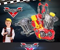 Wholesale child simulate engine set toy diy assemble tool kid role pretent play toy motor nose toy music light