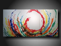 Cheap Hand painted popular free shipping easy paint abstract landscapes oil paintings picture canvas wall art decor newest design 2016