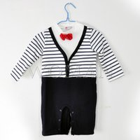Wholesale Baby Clothing Sets Boy s Handsome Outfits Suits Baby Romper Boy s Romper Set Romper Gentleman Sleepsuits Infants Wearing