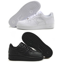 Wholesale Nike Air Force Low All White Men And Women Shoes Nike Air Force One Low Triple Black Man And Woman Shoe