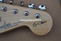Wholesale ST Top quality HOT SALE black st Eric Clapton Signature Maple fingerboard electric guitar