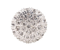 Wholesale 10 Clear Rhinestone Pave Silver metal Buttons mm