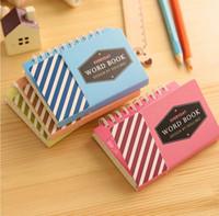 Corea del estilo de la nueva vendimia del papel Kraft Palabra libro / revista almohadillas del diario / libreta / nota / al por mayor