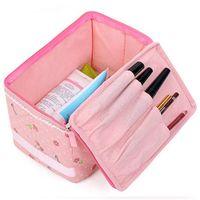 beautiful cosmetic organizer - Beautiful And Fashion Women Lady Makeup Cosmetic Case Toiletry Bag Cherry Travel Handbag Organizer pink color
