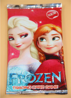Wholesale New Frozen Cartoon Cards Game Christmas Frozen Party Elsa Anna Series Cards Game