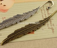 Wholesale 20pcs x13mm Metal Alloy Antique Bronze Silver Big Feather Bookmark Charms Jewelry Accessory Settings