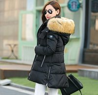 Wholesale Womens Down Coat Raccoon Fur Printed Outerwear New Winter Warm With Belt Butoon Cardiagn Clothing Down Parkas