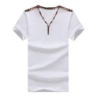 Wholesale 2015 New Arrival Short Sleeve V Neck T Shirt Men Cotton Breathable T shirt Men Plus Size XL Top Tees For Men