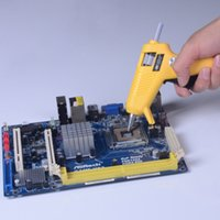 Wholesale 100 V W Portable Heating Craft Repair Tool Mini Hot Melt Glue Gun with Glue Sticks Useful Glue Tool