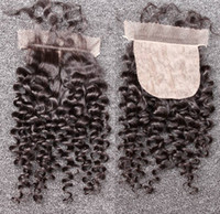 Brazilian Hair Natural Color Body Wave Cheap Silk Base Closure Brazilian Virgin Hair Curly Wave Free Part Silk Closure Top Closures Bleached Knots Free Shipping Natural Color