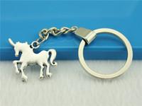 Wholesale 20pcs Key Chain Vintage Metal Key Chains Vintage Unicorn charm Key Rings