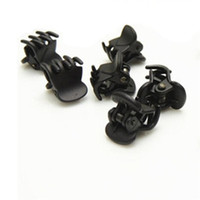 Wholesale Fashion Designer Black Plastic Mini Hair Clips Hairpin Cliper Clamp With Claws Pattern For Women